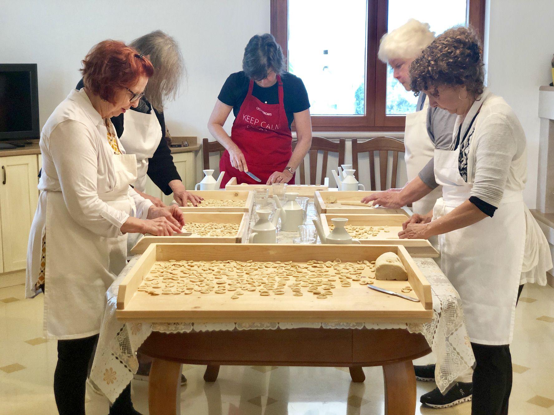 Aprendendo a fazer massas na Puglia